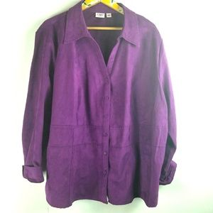 Cato Plum Purple Button Up Sz 26/28 3X